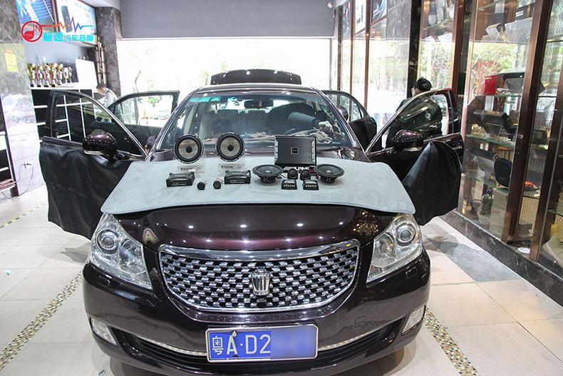 丰田皇冠汽车音响改装,体验优质的音乐生活丨广州极速汽车音响改装